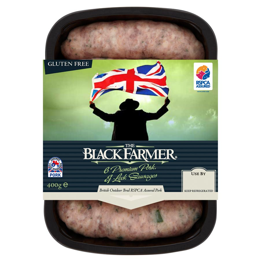 The Black Farmer Pork & Leek Sausages