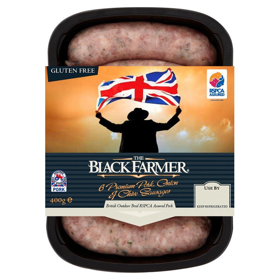 The Black Farmer Pork, Onion & Chive Sausages