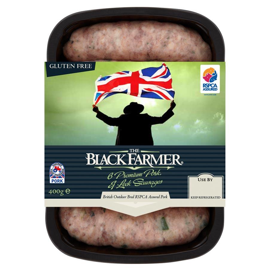 The Black Farmer Pork & Leek Sausages